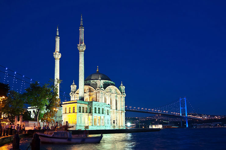Ortaköy Mosque and Bosphorus Bridge